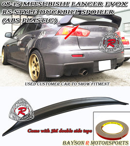 08-15 Mitsubishi Lancer Evolution X (Evo 10) RS Style Rear Duckbill Trunk Spoiler Wing (ABS)