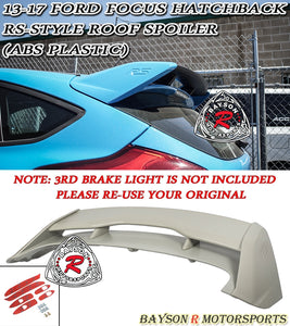 13-18 Ford Focus Hatchback RS-Style Trunk Spoiler (ABS Plastic)