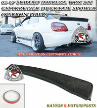 Load image into Gallery viewer, 02-07 Subaru Impreza WRX STi CityKruiser Ducktail Trunk Spoiler (Carbon Fiber)