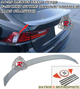 FS Style Spoiler For 2014-2016 Lexus IS - Bayson R Motorsports