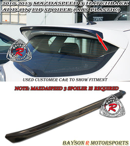 JDM Style Add-On Spoiler For 2010-2013 Mazdaspeed 3 - Bayson R Motorsports
