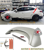 MS Style Spoiler w/ Clear Lens LED 3rd Brake Light For 2014-2018 Mazda 3 5Dr - Bayson R Motorsports