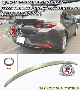 JDM Style Spoiler For 2019-2021 Mazda 3 4Dr - Bayson R Motorsports