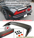 90-05 Acura NSX NA1 NA2 R-Style Trunk Spoiler (Carbon Fiber) w/ LED Light - Bayson R Motorsports