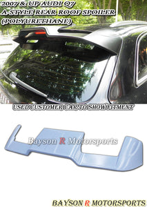 05-15 Audi Q7 A Style Rear Roof Spoiler Wing (Urethane) - Bayson R Motorsports