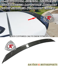 Load image into Gallery viewer, 11-17 Toyota Sienna CityKrusier Add-On Roof Spoiler (Carbon Fiber)