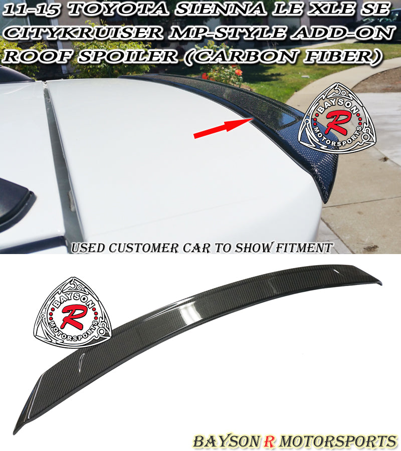 11-17 Toyota Sienna CityKrusier Add-On Roof Spoiler (Carbon Fiber)