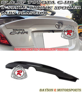 17-18 Toyota C-HR T-Style Rear Ducktail Trunk Spoiler Wing (ABS Plastic)