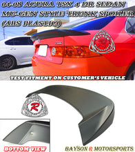 Load image into Gallery viewer, 04-08 Acura TSX 4Dr Sedan Mu-gen Style Trunk Spoiler (ABS Plastic)
