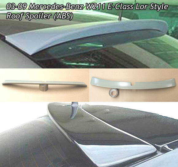 L Style Roof Spoiler For 2003-2009 Mercedes-Benz E-Class (W211) - Bayson R Motorsports