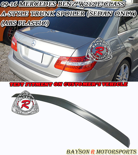 A Style Spoiler For 2009-2016 Mercedes-Benz E-Class 4Dr (W212) - Bayson R Motorsports