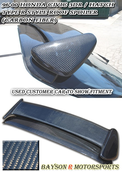 TR Style Spoiler (Carbon Fiber) For 1996-2000 Honda Civic 3Dr - Bayson R Motorsports