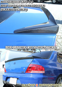 RS Type-1 Style Trunk Spoiler (Carbon Fiber) For 2003-2007 Mitsubishi Evolution 8 / 9 - Bayson R Motorsports