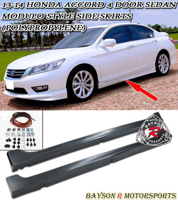 Mod Style Side Skirts For 2013-2017 Honda Accord 4Dr - Bayson R Motorsports