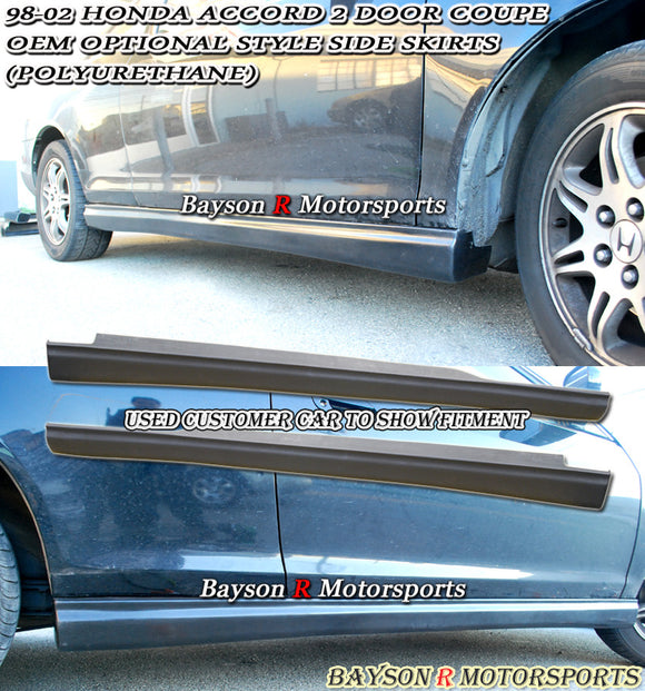OE Style Side Skirts For 1998-2002 Honda Accord 2Dr - Bayson R Motorsports