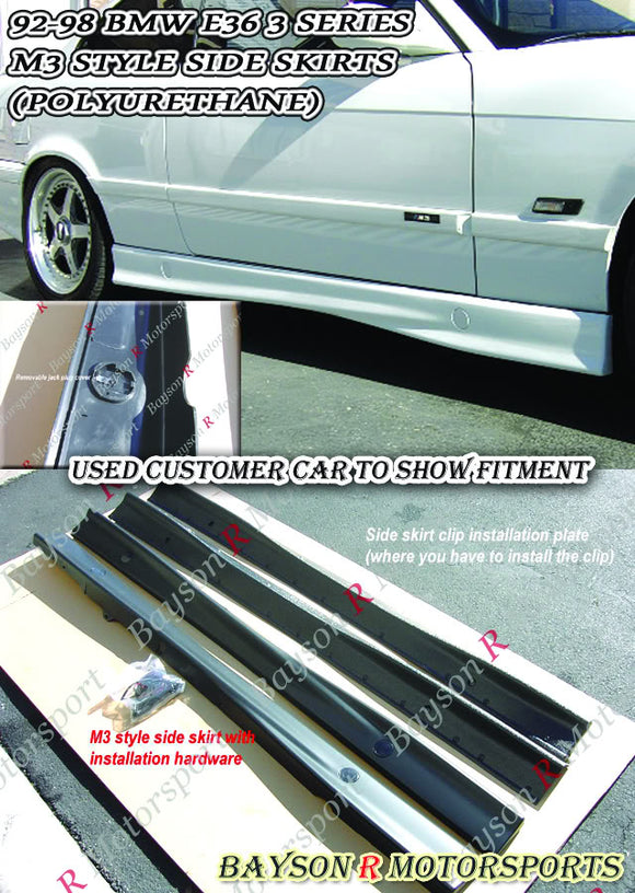 M Style Side Skirts For 1992-1999 BMW 3-Series E36 - Bayson R Motorsports