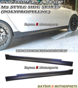 M5 Style Side Skirts For 2004-2010 BMW 5-Series E60 E61 - Bayson R Motorsports
