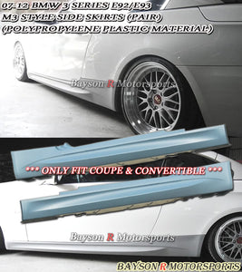 M3 Style Side Skirts For 2007-2013 BMW 3-Series E92 E93 - Bayson R Motorsports
