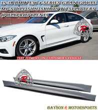 Load image into Gallery viewer, 15-19 BMW F36 4-Series Gran Coupe MP-Style Side Skirts with Splitters (Polypropylene)
