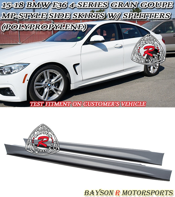15-19 BMW F36 4-Series Gran Coupe MP-Style Side Skirts with Splitters (Polypropylene)