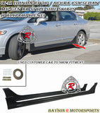 MURR Style Side Skirts For 2006-2011 Honda Civic 4Dr - Bayson R Motorsports
