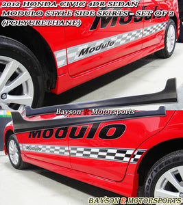 12-15 Honda Civic 4Dr Sedan Modulo Style Side Skirts (Polyurethane)