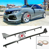 TR Style Side Skirts (Carbon Look) For 2016-2020 Honda Civic 2 Dr - Bayson R Motorsports