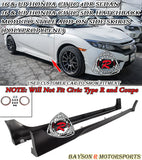 16-20 Honda Civic 4Dr Sedan 5Dr Hatch Modulo Style Side Skirts (Polypropylene) - Bayson R Motorsports