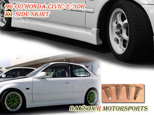 K1 Style Side Skirts For 1996-2000 Honda Civic 2Dr / 3Dr - Bayson R Motorsports