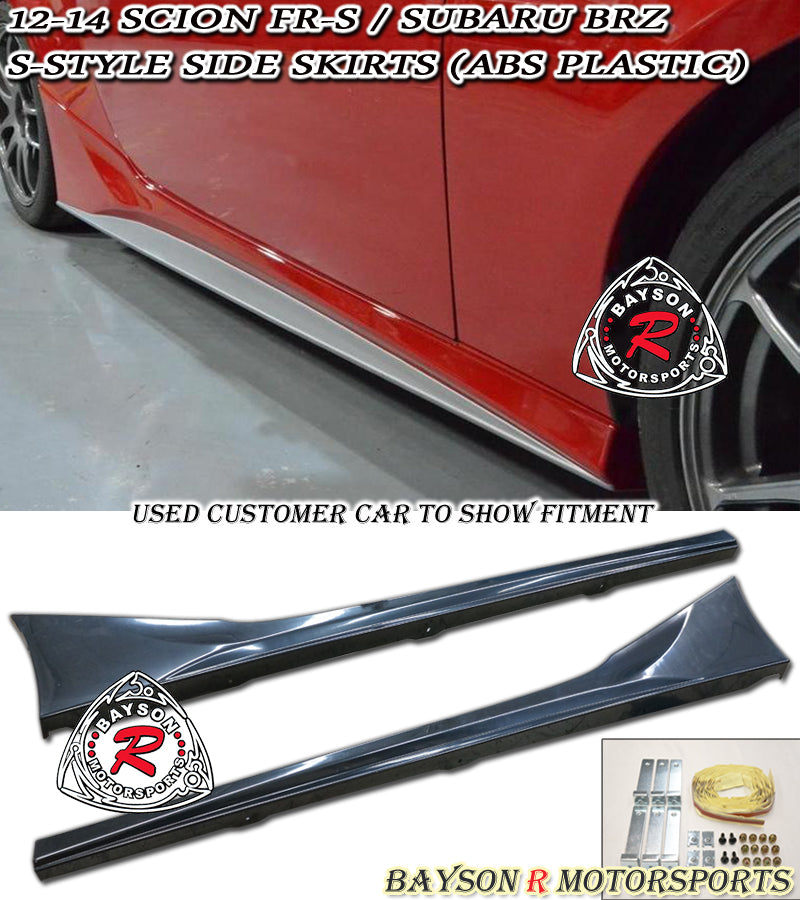 12-18 Scion FR-S FRS FT86 GT86 S-Style Side Skirts (ABS Plastic)
