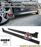 G Style Side Skirts For 2010-2014 VW Golf 6 4Dr (MK5) - Bayson R Motorsports
