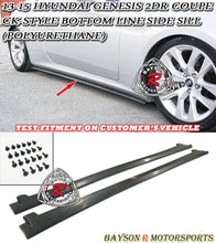 Load image into Gallery viewer, 13-15 Hyundai Genesis 2 Dr Coupe CK-Style Bottom Line Side Sill (Polyurethane)