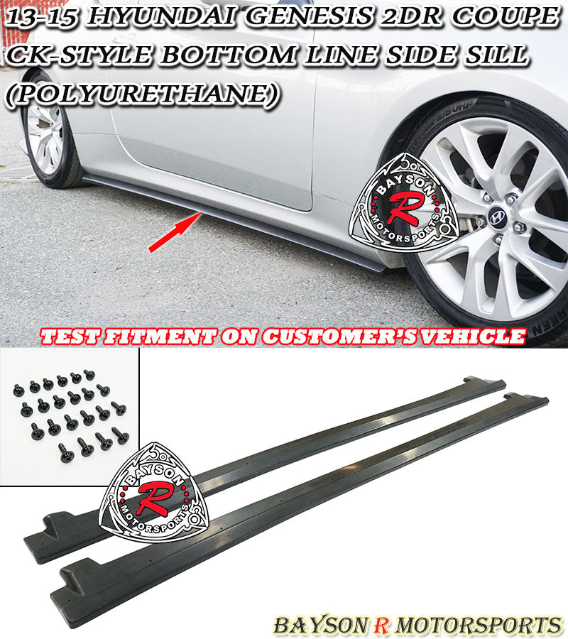 13-15 Hyundai Genesis 2 Dr Coupe CK-Style Bottom Line Side Sill (Polyurethane)