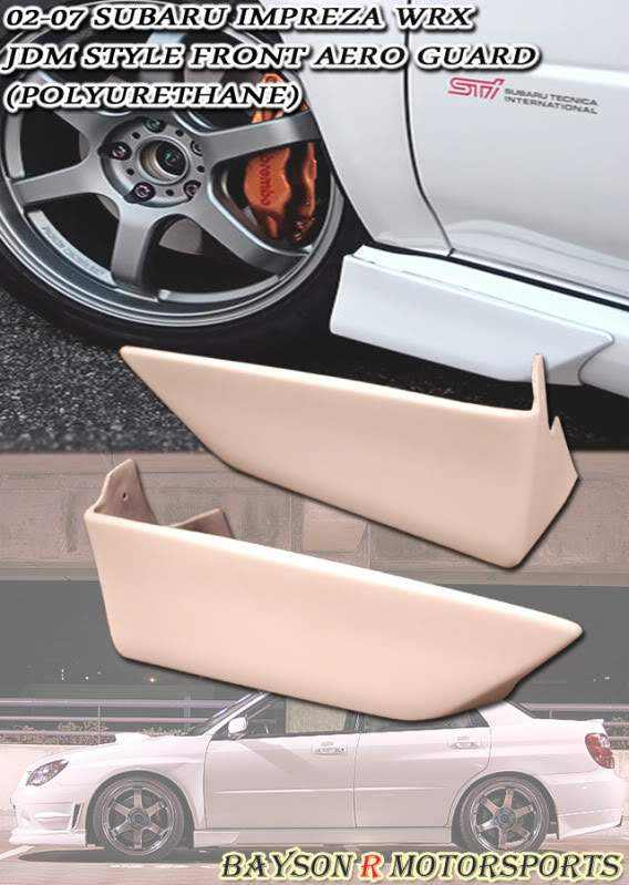 JDM Style Front Aero Guards & Rear Side Spats For 2002-2007 Subaru Impreza WRX - Bayson R Motorsports