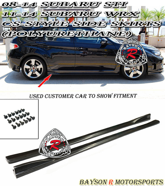 CS Style Side Skirts For 2008-2014 Subaru WRX / STi - Bayson R Motorsports