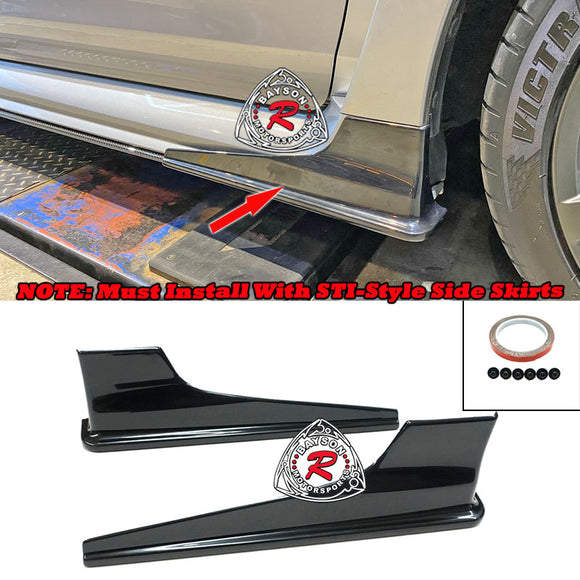 Front Side Spats For 2015-2020 Subaru WRX / STi (Must Install with STi-Style Side Skirts) - Bayson R Motorsports