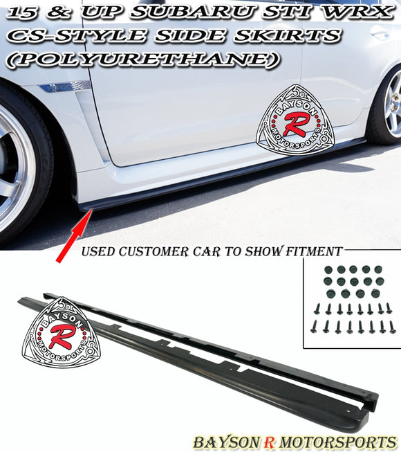 CS Style Side Skirts For 2015-2020 Subaru WRX / STi - Bayson R Motorsports