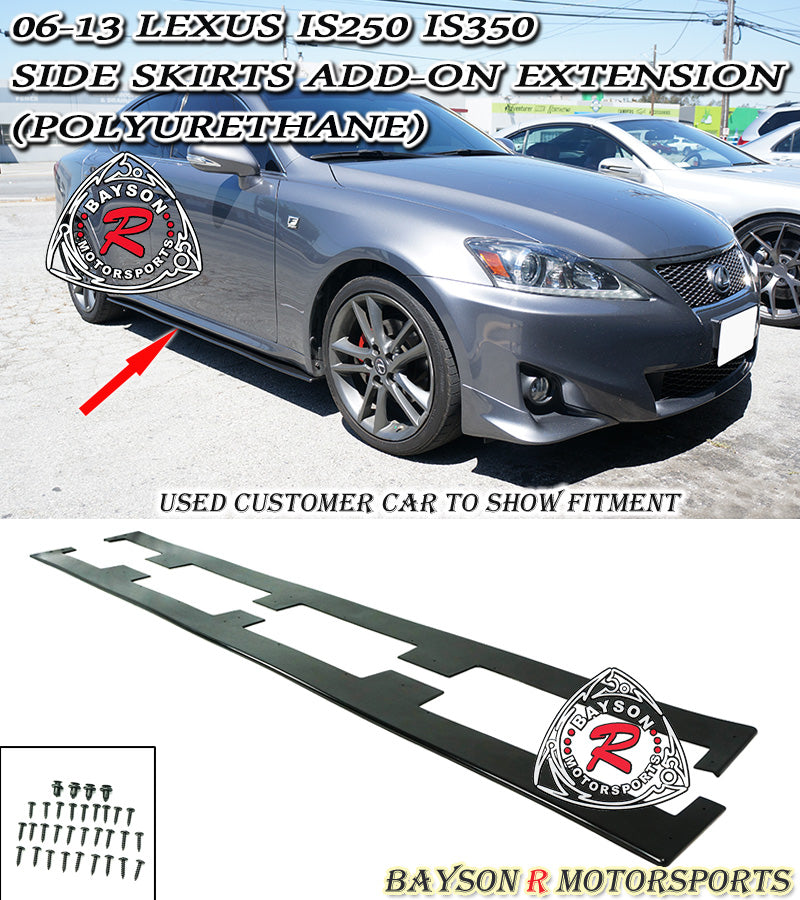 06-13 Lexus IS250 IS350 Side Skirts Add-On Extension (Polyurethane)