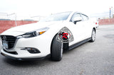 K Style Side Skirts For 2014-2018 Mazda 3 - Bayson R Motorsports