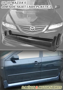 03-08 Mazda 6 JDM Style Side Skirt (ABS Plastic)