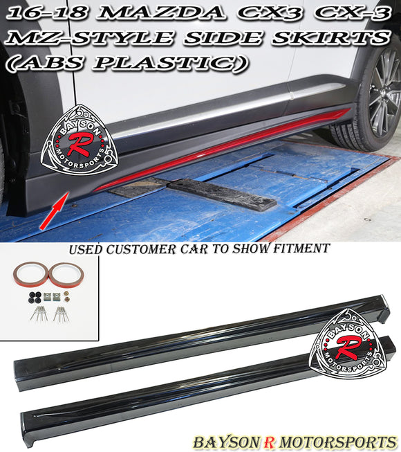 MZ Style Side Skirts For 2016-2020 Mazda CX-3 - Bayson R Motorsports