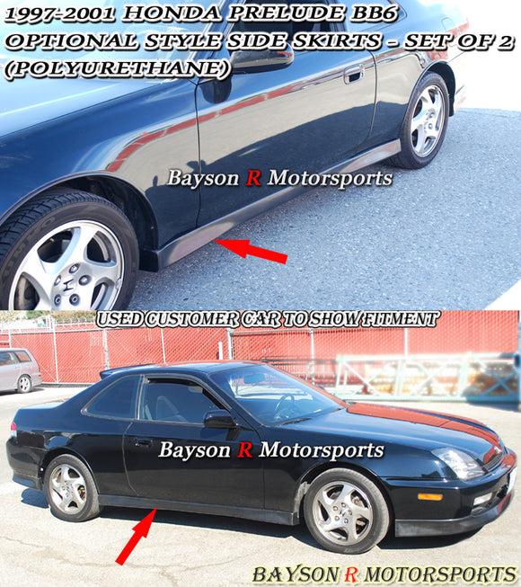 OPT Style Side Skirts For 1997-2001 Honda Prelude - Bayson R Motorsports