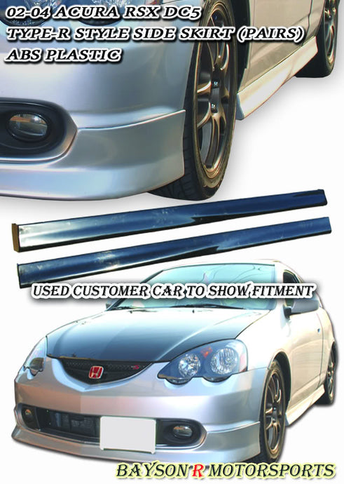 02-04 Acura RSX DC5 Type-R Style Side Skirts (Polypropylene)
