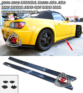 Spn Style Side Skirts For 2000-2009 Honda S2000 - Bayson R Motorsports