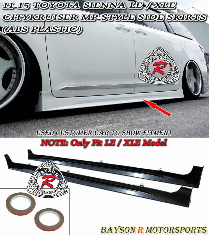 11-17 Toyota Sienna LE XLE Citykruiser MP Style Side Skirts (ABS) (Non SE Model)