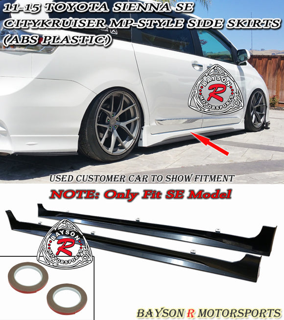 Citykruiser MP Style Side Skirts For 2011-2020 Toyota Sienna (SE Model) - Bayson R Motorsports