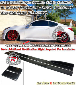 Bottom Line Style Side Skirts Fit Most Vehicle (Max Length 212 cm) - Bayson R Motorsports