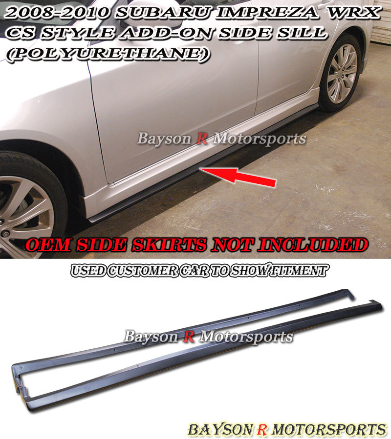 08-10 Subaru Impreza WRX CS Style Bottom Line Side Skirts (Polyurethane)