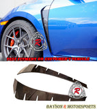 Fender Vent Add-On Insert (Dry Carbon) For 2017-2021 Honda Civic Type R - Bayson R Motorsports