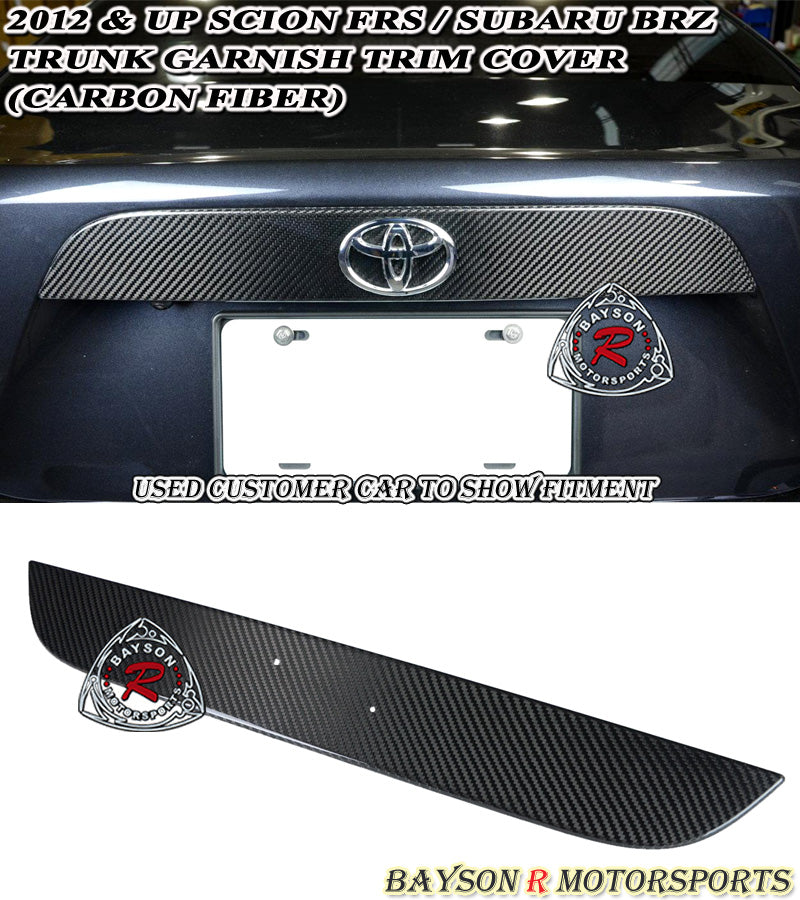 12-16 Scion FR-S Subaru BRZ Trunk Garnish Trim Cover (Carbon Fiber)
